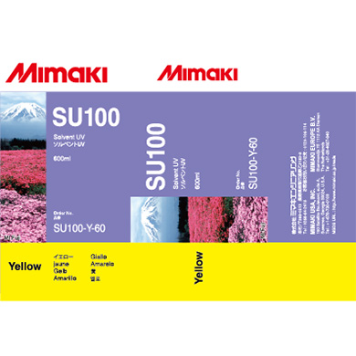 SU100-Y-60 SU100 Solvent UV ink pack Yellow