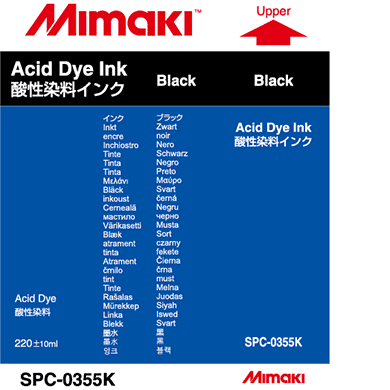 SPC-0355K Acid dye ink Black